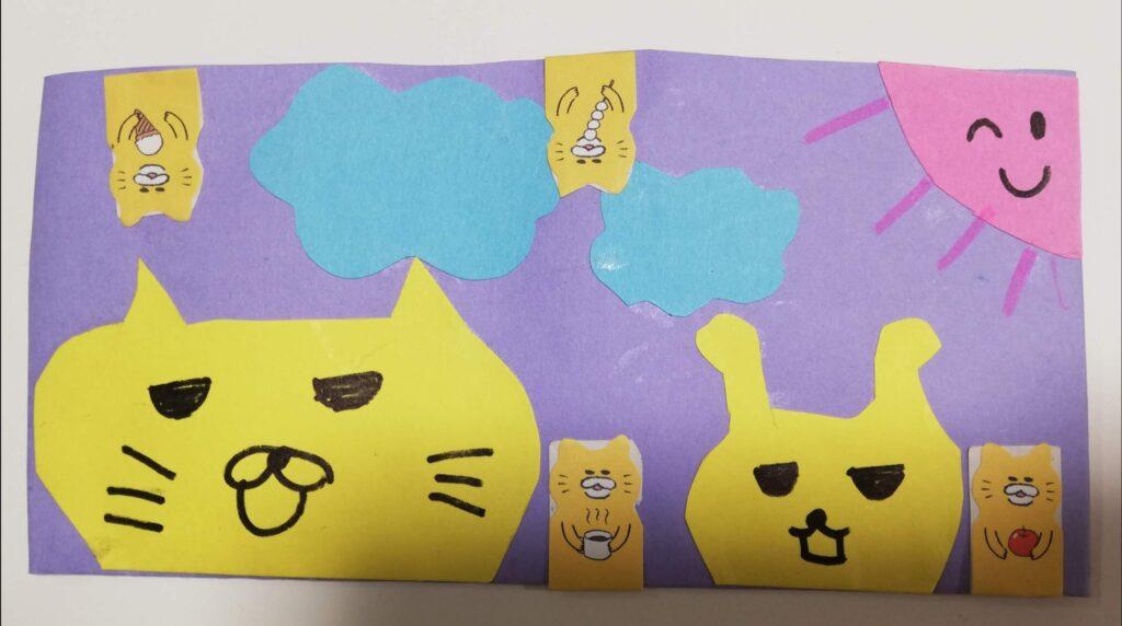 ネコの手作り筆箱
