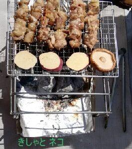 初挑戦おうちバーベキュー!飯ごう炊飯もしたよ。